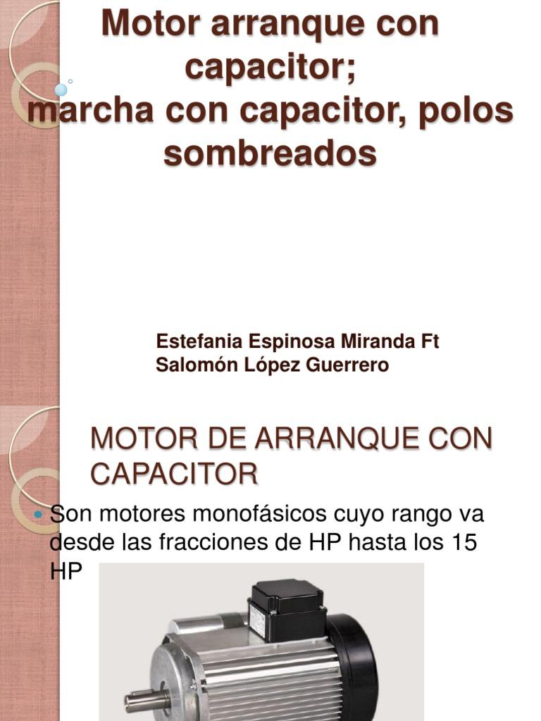 Motor Arranque Con Capacitor Inductor Corriente Eléctrica