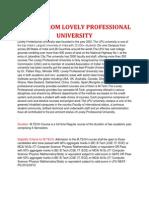 M.tech (Lovely Professional University)