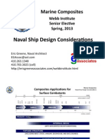 Marine Composites - Naval Ship Design Considerations (Presentation)