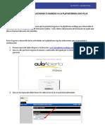 Instructivo de Ingreso e Indicaciones Plataforma Leio Plus