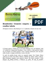 Brasileirão Cruzeiro empata e dorme líder; confira tabela