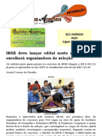 IBGE deve lançar edital neste mês e CBTU escolherá organizadora de seleção