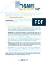 SAMS Europe 2013 Conference - Top Stories