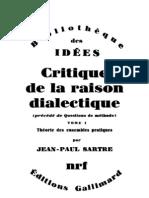 Jean_Paul_Sartre_Critique_de_la_Raison_dialectique,_tome_1__Thιorie_des_ensembles_pratiques__1985