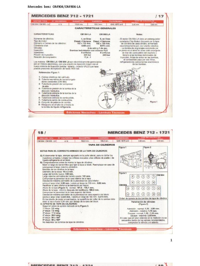mercedes om442 om443 and om444 manuals specs bolt torques Array - mercedes  benz om904 om 906