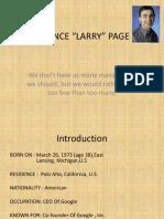 Entrepreneur Larry Page