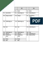 Retreat Schedule 2013