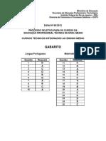 Intituo Federal 2013 Integrado Rj Gabarito