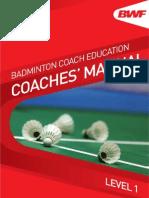 Badminton Coaches Manual Level 1