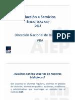 Presentacion Servicios Biblioteca 2013