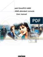 Alcatel OmniPCX 4400, Alcatel 4049 attendant console user manual