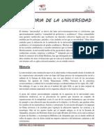 Historia de La Universidad