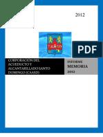 Memoria Consejo Nacional de Drogas 2012