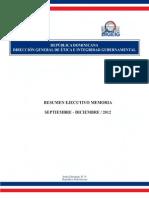 Memoria Dirección General de Ética e Integridad 2012