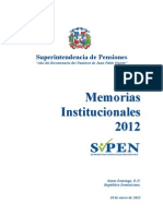 Memoria Superintendencia de Pensiones 2012