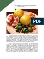 Influence of Gibberellic Acid on Citrus Fuits