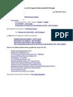 Estadísticas de la Agencia Internacional de Energía