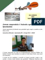 Jovem empresário é baleado após assalto em Queimadas