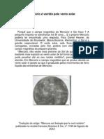 Mercúrio é varrido pelo vento solar