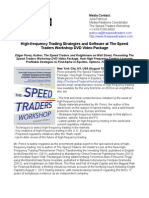 High-frequency Trading Strategies and Software at The Speed Traders Workshop DVD Video Package