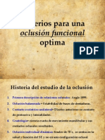 Criterios Para Una Oclusion Optima
