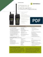 AMZ Motorola CP200 Radio XLS Specs
