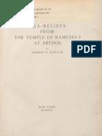 MMA - H. Winlock - temple of Ramses I at Abydos - 1931.pdf