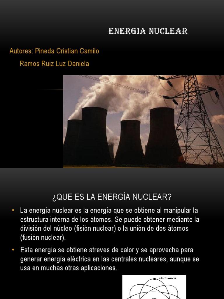 Energia Nuclear Central Nuclear Energía Nuclear