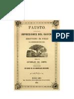 Estanislao Del Campo. Fausto (facsímil de la primera edición)