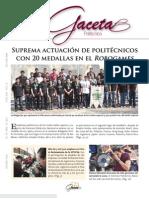 Gaceta Politécnica - Suprema actuación de Politécnicos en Robogames 2013