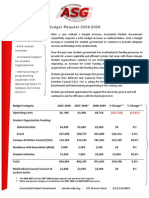 ASG Budget Request 2008-2009