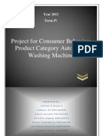 Consumer behaviour- Washing machine sector