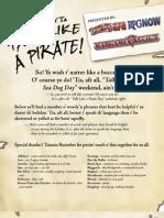 So Yer Wantin t' Talk Like a Pirate