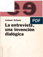 Arfuch, Leonor - La Entrevista, Una Invencion Dialogica