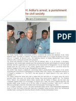 BANGLADESH Adilur's Arrest, A Punishment and Threat to the Civil Society