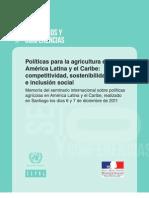 CEPAL - Conferencia Agricultura y Sostenibilidad en América Latina y Caribe