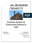 Economic Analysis of Indian Construction Industry