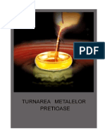 Turnarea metalelor pretioase