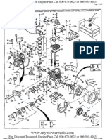 Tecumseh Engine Parts Manual HH60 105106F