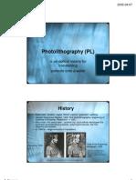 Photo Lithography AY