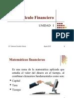 Cálculo Financiero UNIDAD I pdf