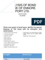 Analysis of Bond Issue of Ennore Port Ltd