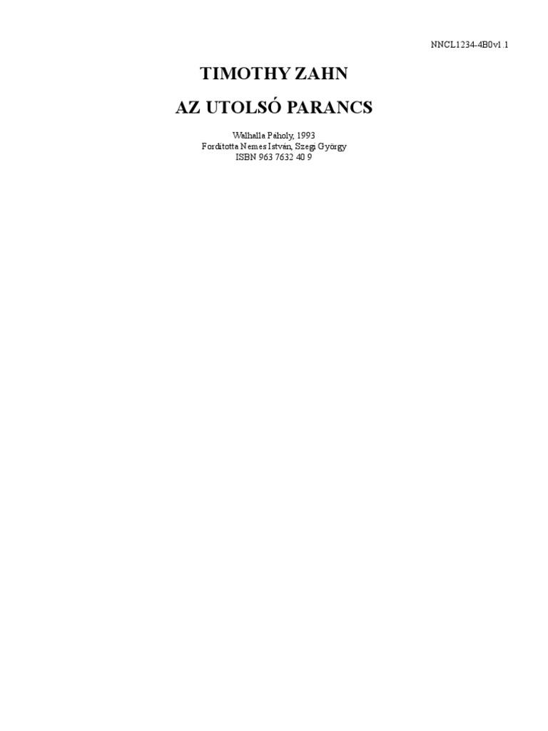 Timothy Zahn - Az utolsó parancs 0f42b8068c