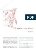 El Folklore Como Cultura. Manuel Dannemann