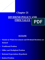 Chapter21 Dividend Policy and Firm Value