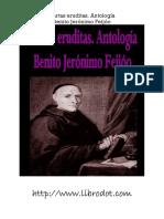 Feijoo Benito - Cartas Eruditas Antologia