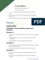3 STRESS - Teacher's Group Work