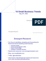2009 Top 10 Small Business Trends