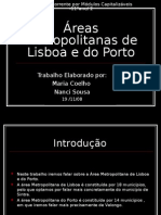 As areas metropolitanas de lisboa e porto
