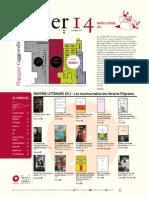Les coups de coeur Filigranes de la rentrée littéraire 2013